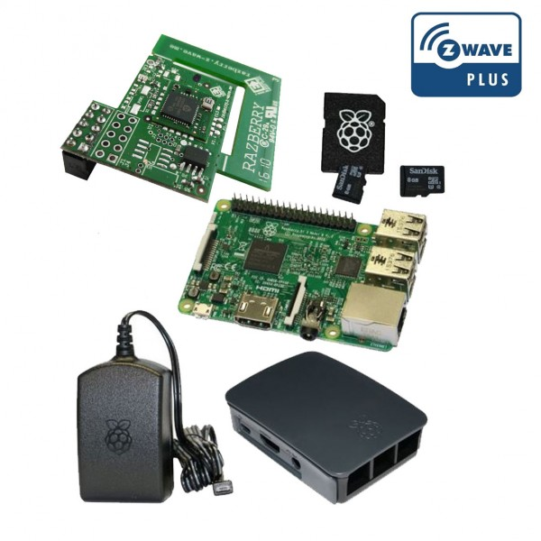 Rasberry Pi Z-Wave Plus Bundle schwarz inkl. RaZberry2 Board