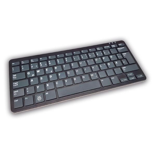 offizielle Raspberry Pi Tastatur schwarz/grau