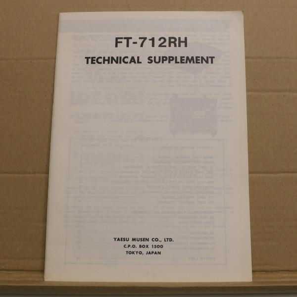 Yaesu FT-712RH Technical Supplement