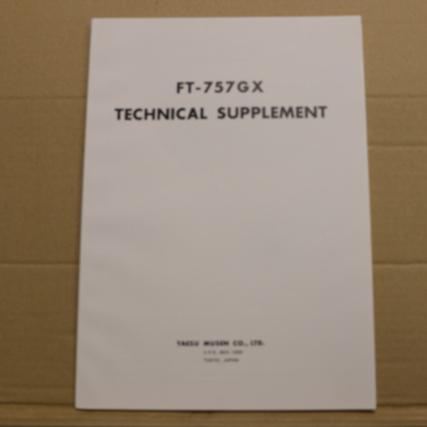 Yaesu FT-757GX Technical Supplement