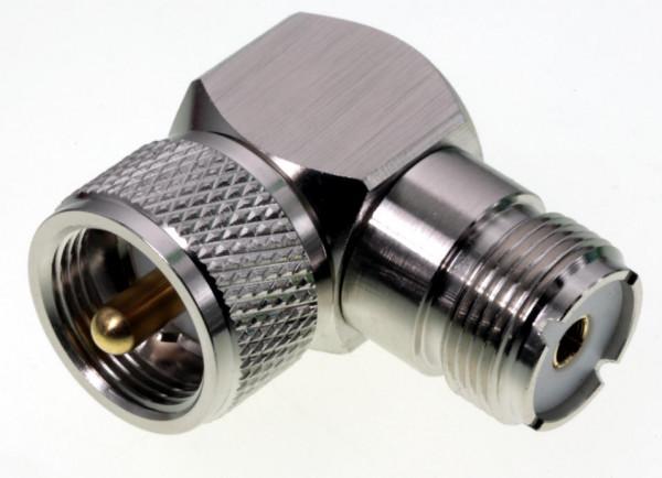 UHF PL Winkeladapter