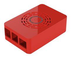 Gehäuse für Pi 4 mit Ein/Aus-Taste, rot