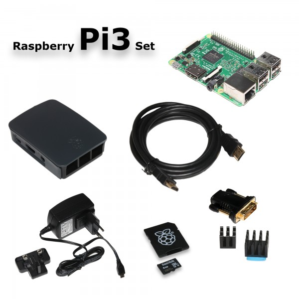 Raspberry Pi 3 Model B 8 GB Starter Kit
