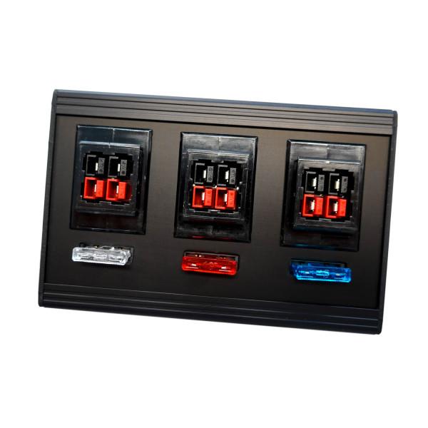 BMC-V6-K Verteilerleiste 6-fach für PowerPole® - ohne Kabel