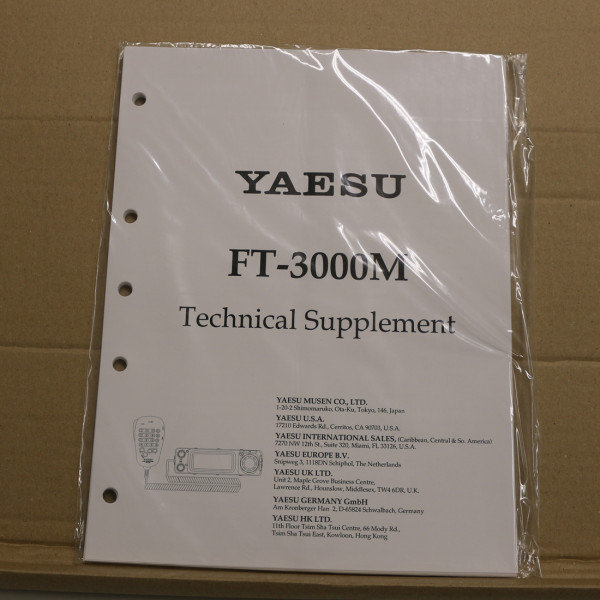 Yaesu FT-3000M Technical Supplement