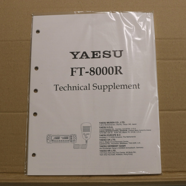Yaesu FT-8000R Technical Supplement