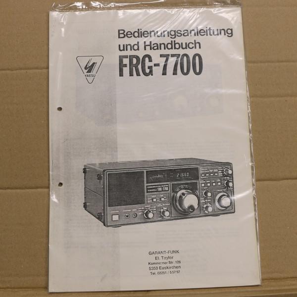 Yaesu FRG-7700 Bedienungsanleitung