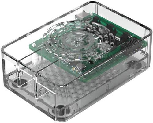 Gehäuse für Raspberry Pi 4 Model B, mit Ein/Aus-Taste, transparent