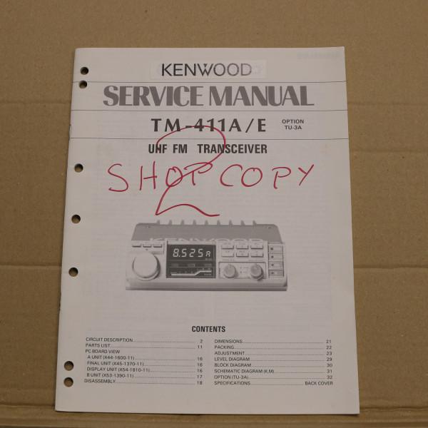 Kenwood TM-411A/E Service Manual