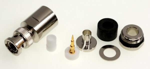BNC-Stecker für 7mm Koaxialkabel, z.B. Aircell 7, H2007 u.a.