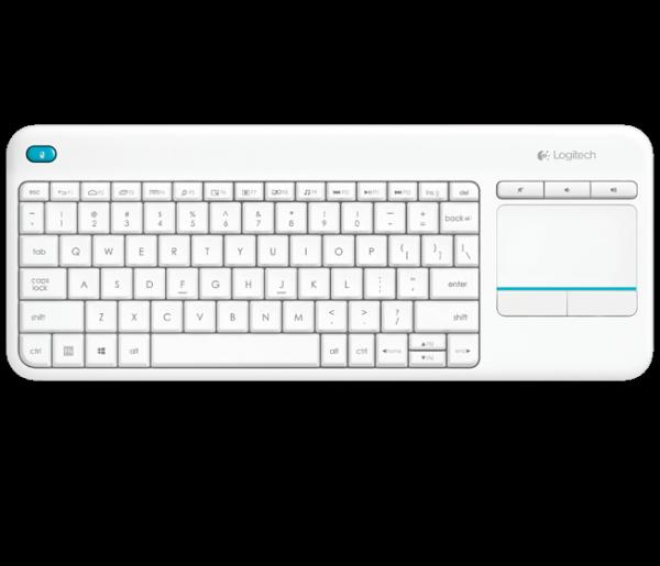 Logitech K400 Plus Touch Wireless Tastatur weiß oder schwarz (QWERTZ, deutsches Tastaturlayout)