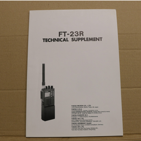 Yaesu FT-23R Technical Supplement