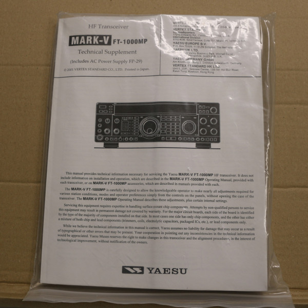 Yaesu FT-1000MP5 Technical Supplement