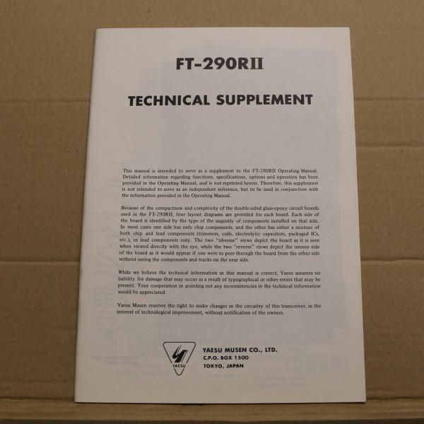 Yaesu FT-290RII Technical Supplement
