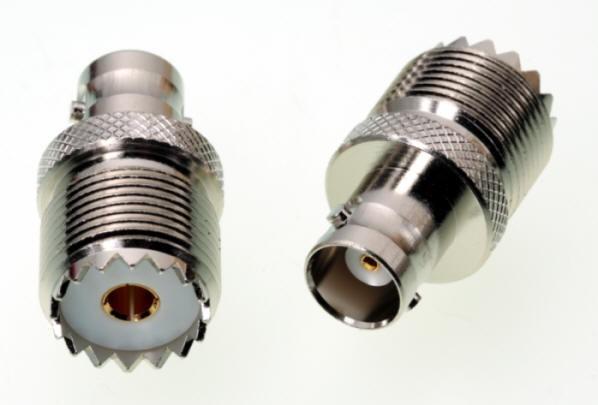 Adapter UHF-/PL-Buchse / BNC-Buchse