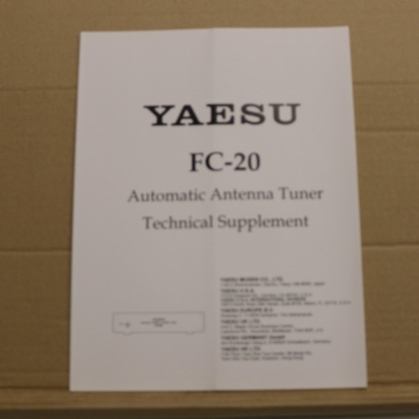 Yaesu FC-20 Technical Supplement