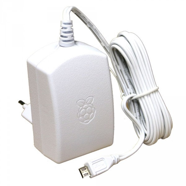 offizielles Raspberry Pi Netzteil microUSB 5,1V / 2,5A weiß