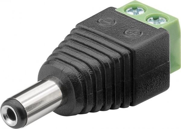 Hohlstecker / DC-Stecker auf Schraubklemme