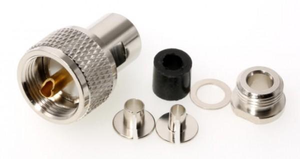 UHF-Stecker / PL-Stecker für 6mm Koaxialkabel UHF-Spezial 6